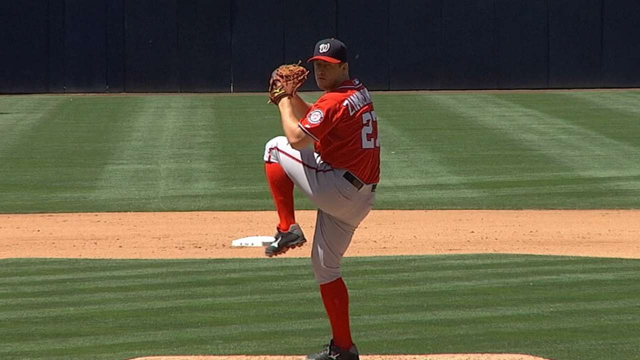 Zimmermann focused on 2015, not contract status