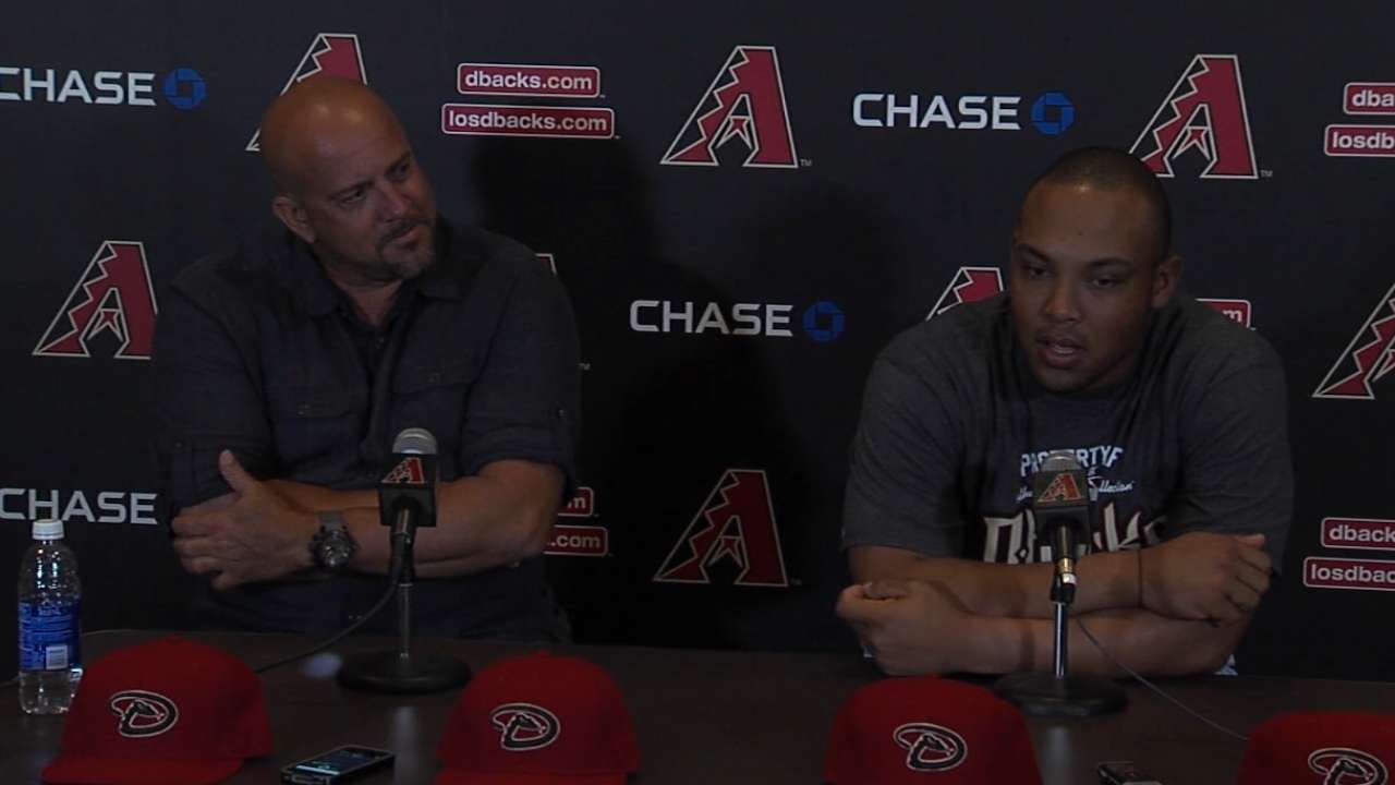 D-backs introduce Tomas to media