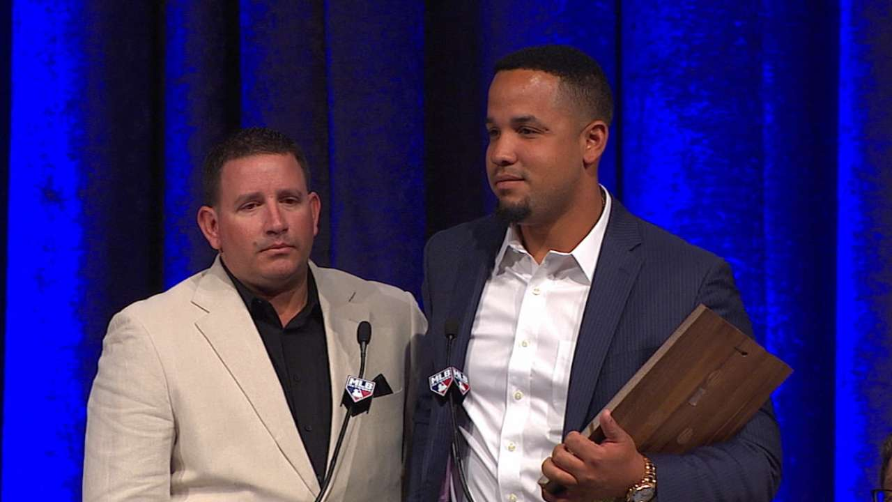 Abreu accepts AL ROY Award