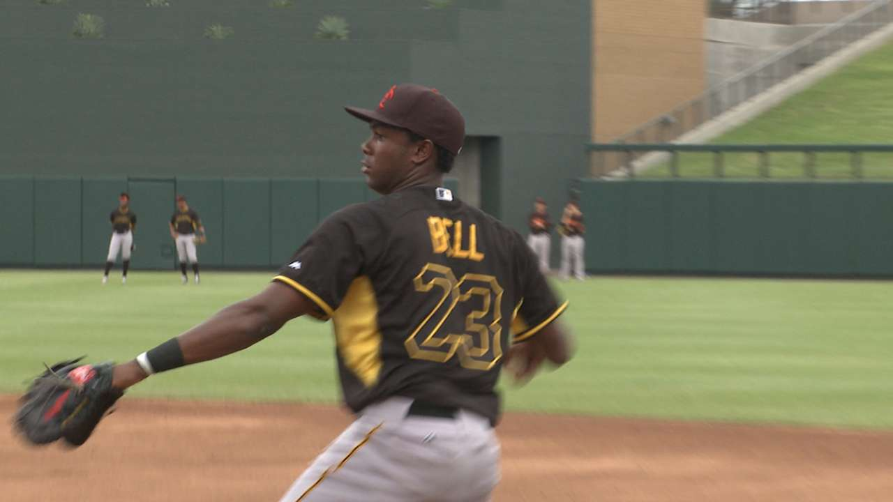 Pirates' Bell, Diaz tabbed for Futures Game
