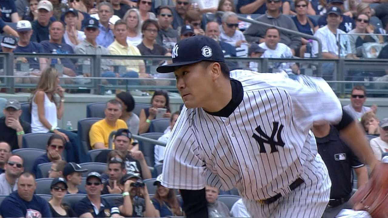 Yankees see positive results as Tanaka builds stamina
