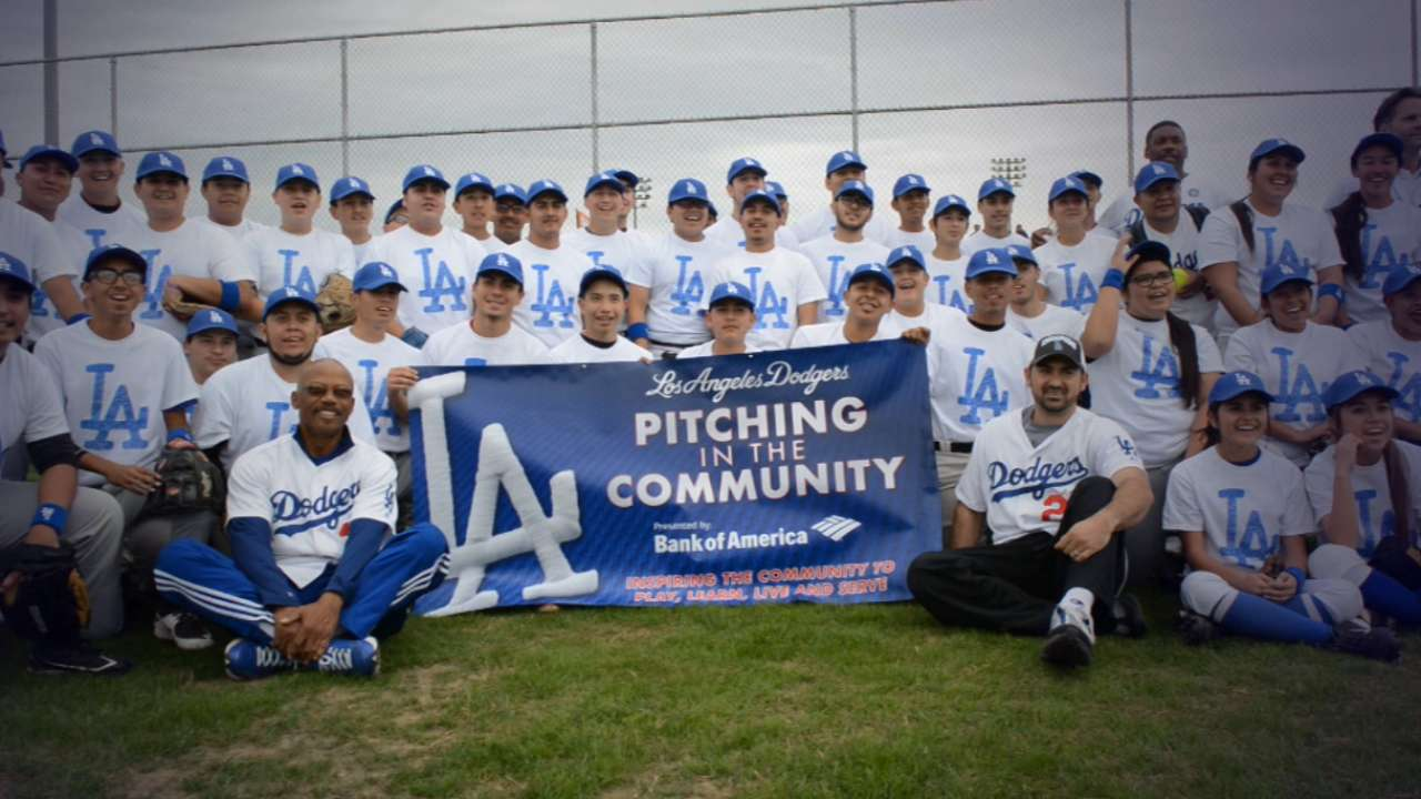 Dodgers players to help cap special week in the community