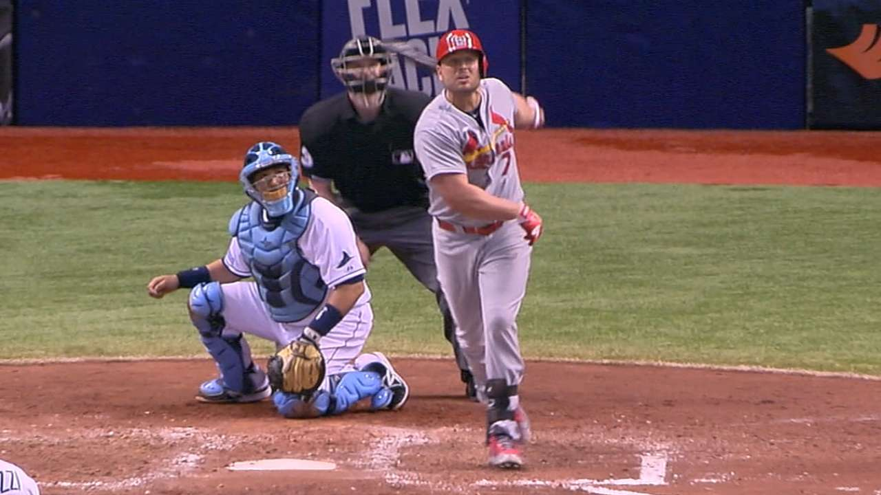 Holliday OK after hit by pitch
