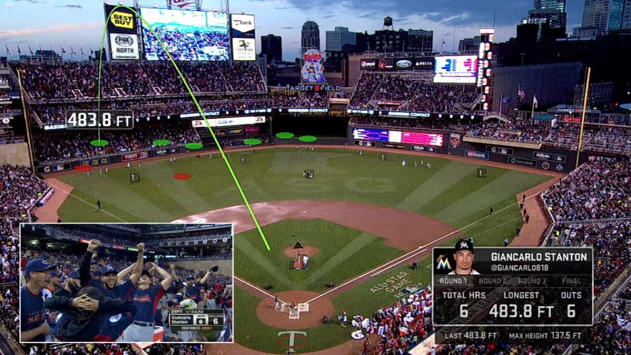 Statcast: Stanton's long drives