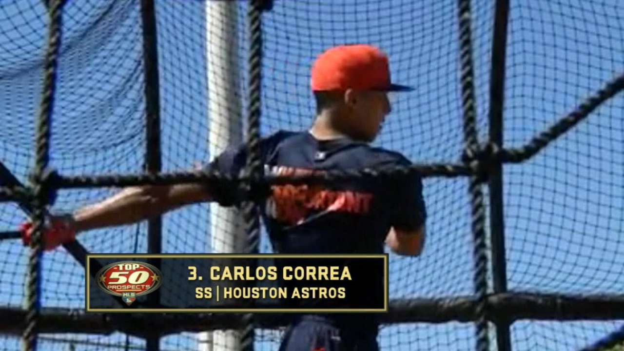 Correa is ranked No. 3 prospect
