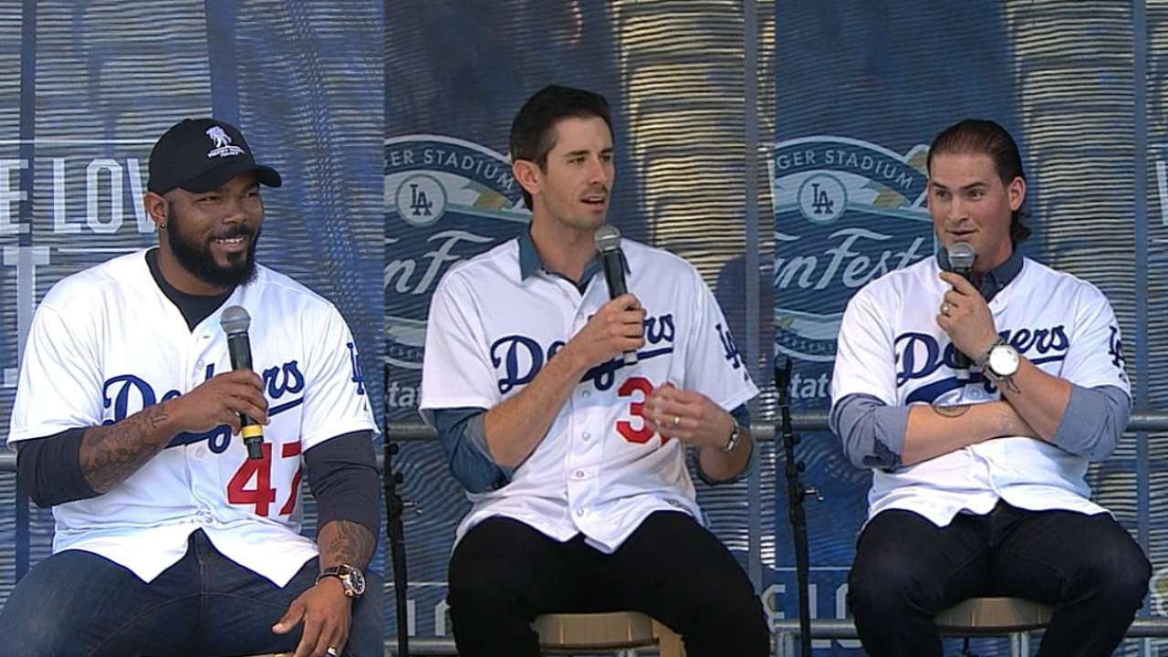 New Dodgers speak at FanFest