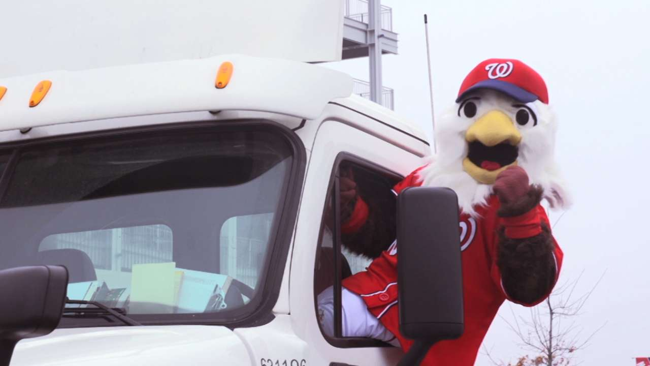 Nationals' equipment truck set to depart for Florida