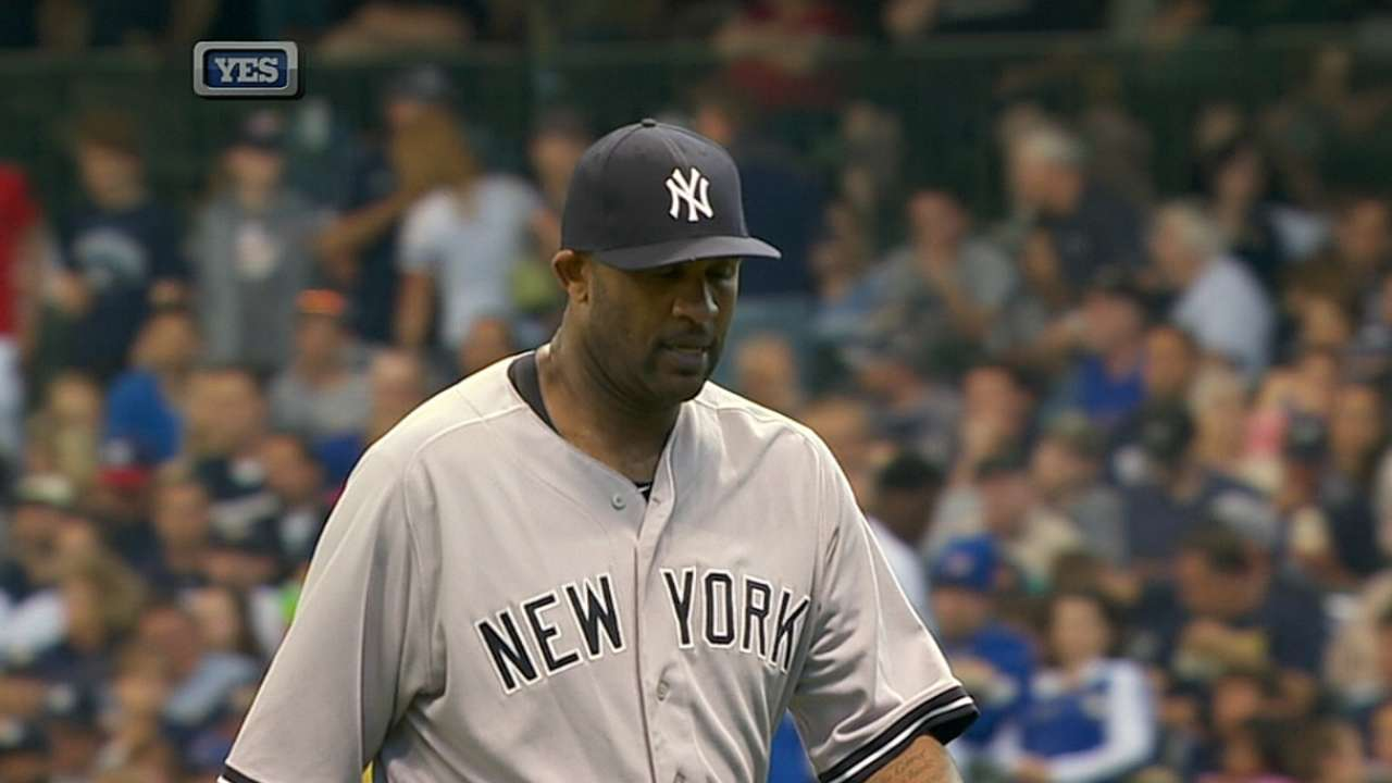 Sabathia comfortable with added weight in 2015