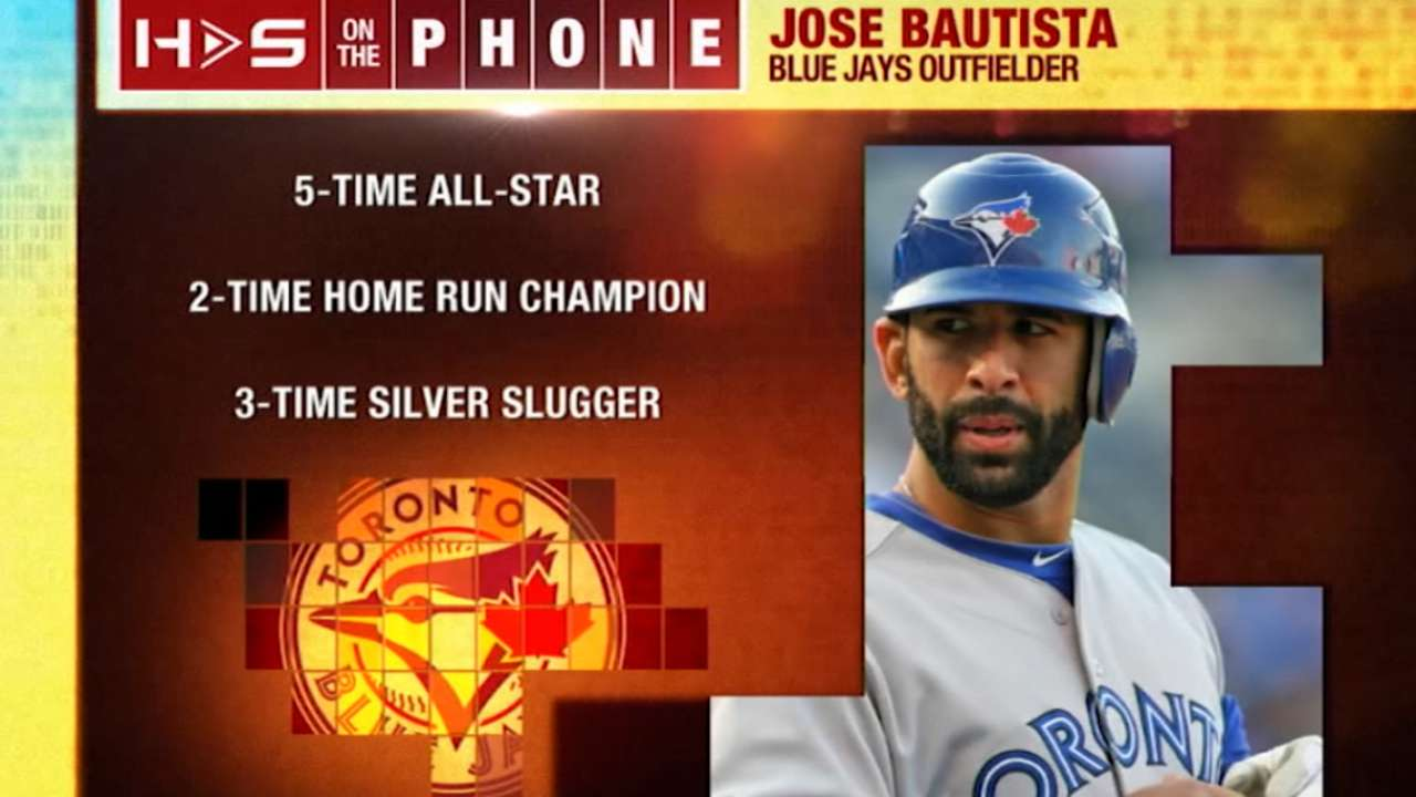 Bautista excited about additions to clubhouse