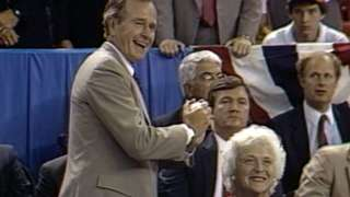 1986 ASG: George H.W. Bush throws out first pitch