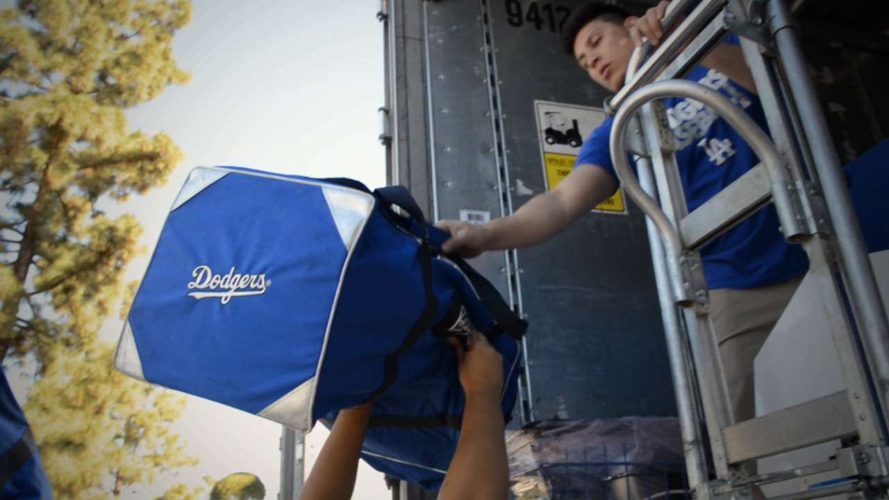 Dodgers' offseason dealmaking extended to Truck Day