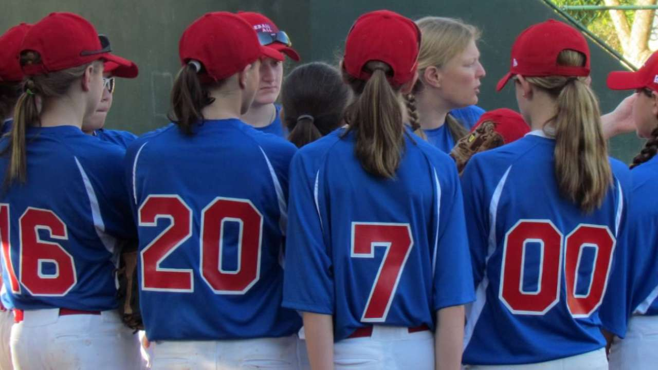 Siegal lets girls know that baseball is for all