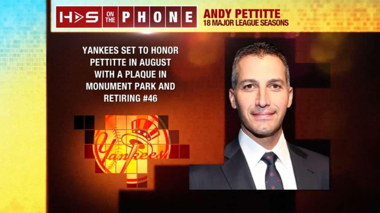 Pettitte calls in to Hot Stove