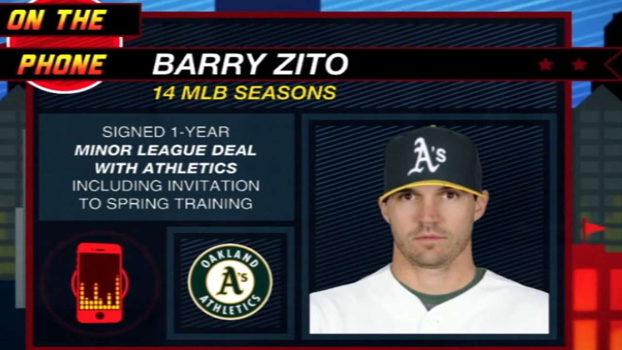 Melvin: A's 'excited' about having Zito in camp