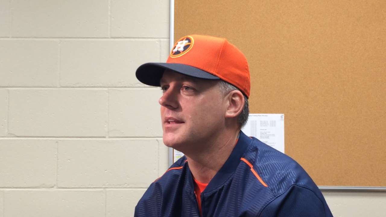 Hinch stressing communication between pitchers, catchers