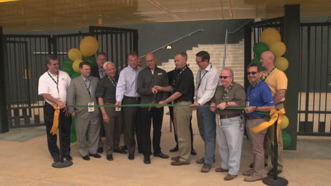 A's, Mesa celebrate upgraded Arizona facilities