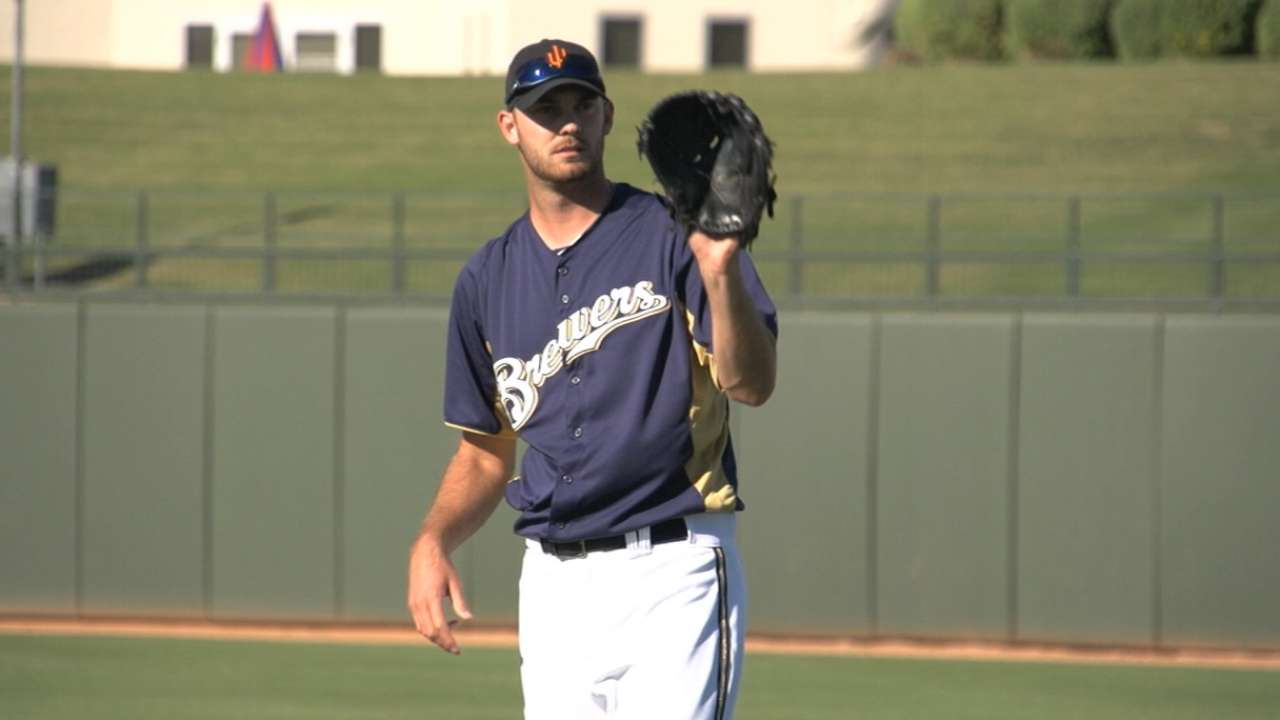 Inexperienced Jungmann leads Brewers' rotation depth