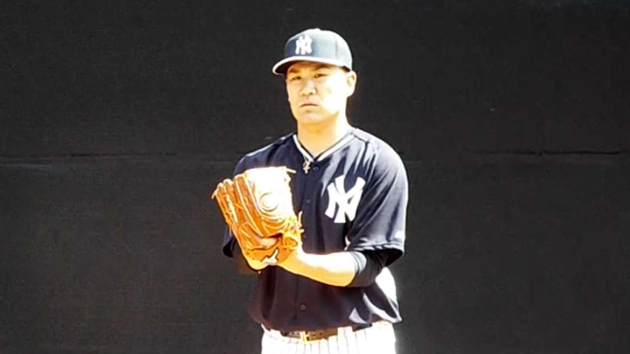 No discomfort for Tanaka after second 'pen session
