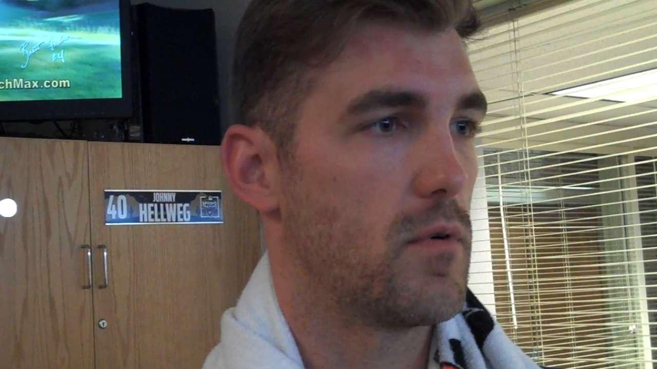 Hellweg heartened by return from Tommy John surgery