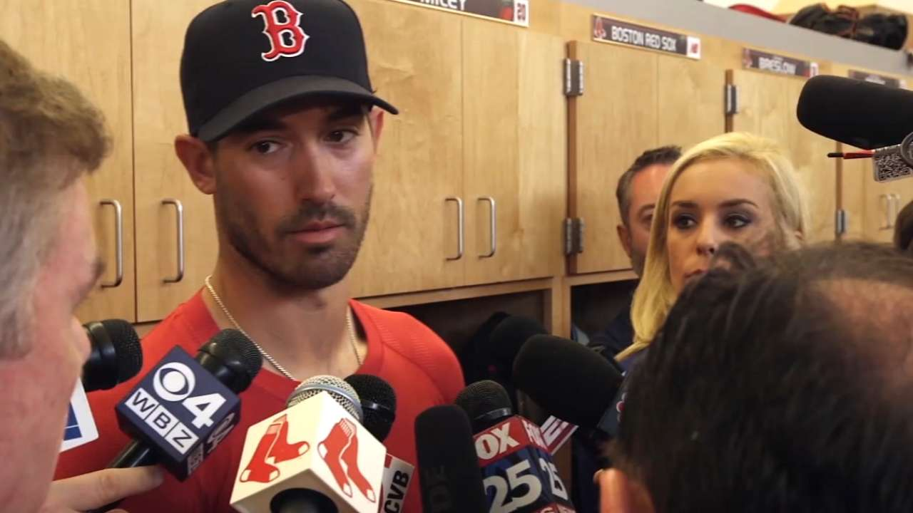 Porcello tosses two perfect innings in first Red Sox outing