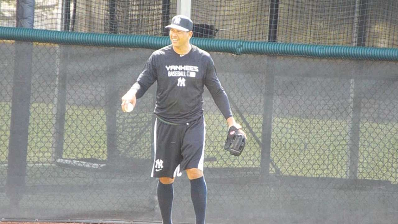 A-Rod gets reps at first base, preps for transition
