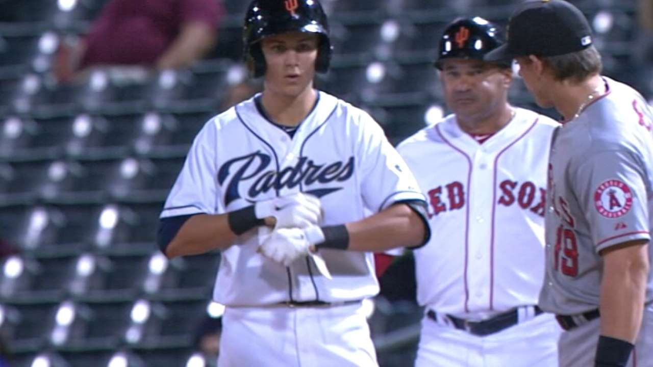 Padres bring prospect Turner to Majors camp