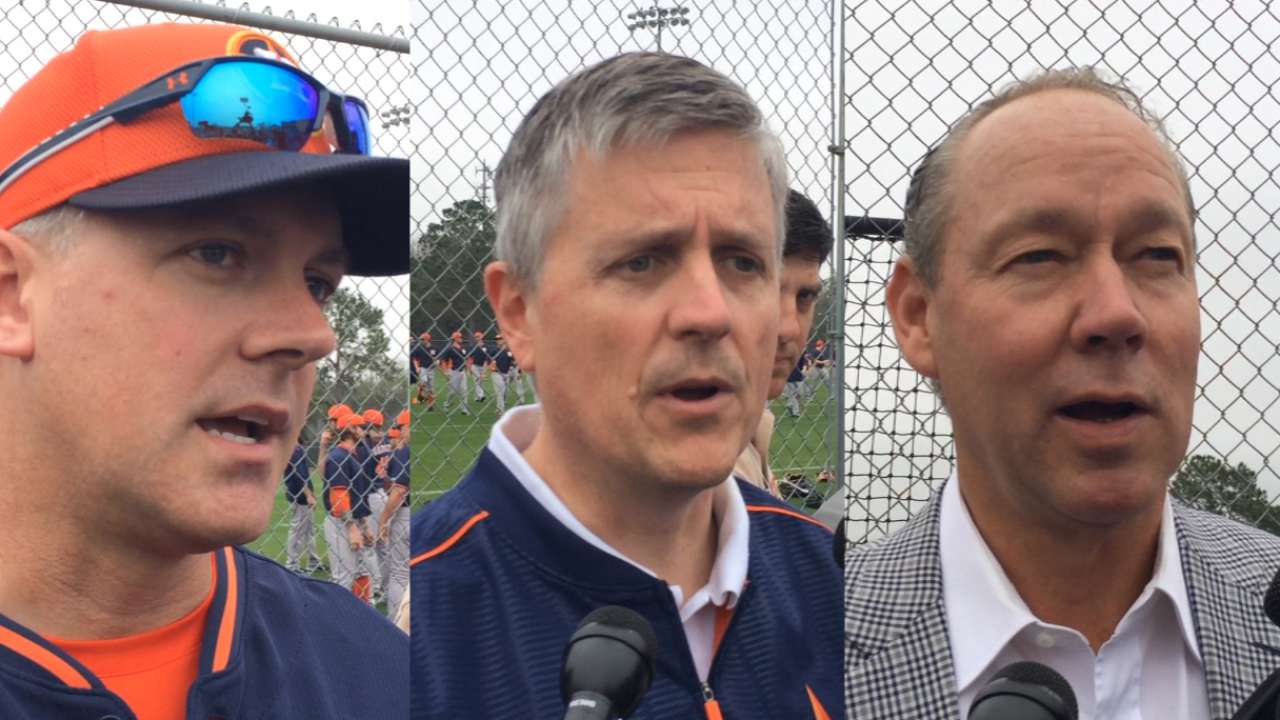 Astros emphasize plan before springing into action