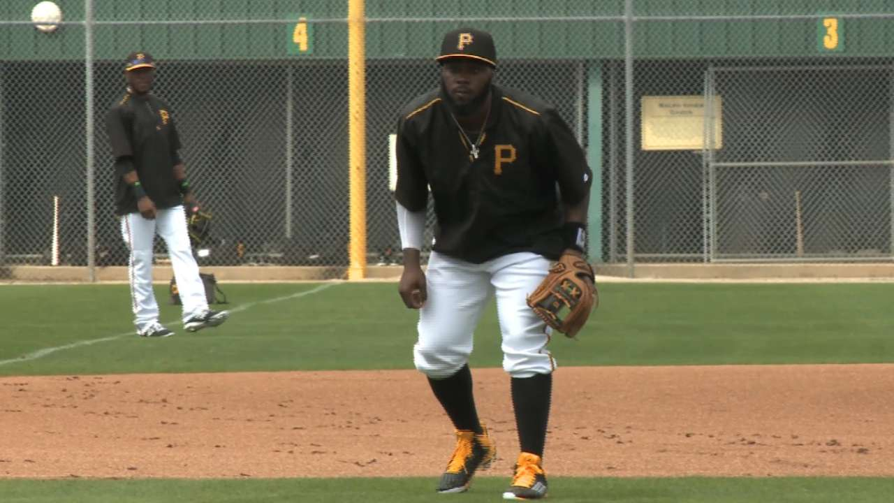 Harrison exits Pirates' game with ankle discomfort
