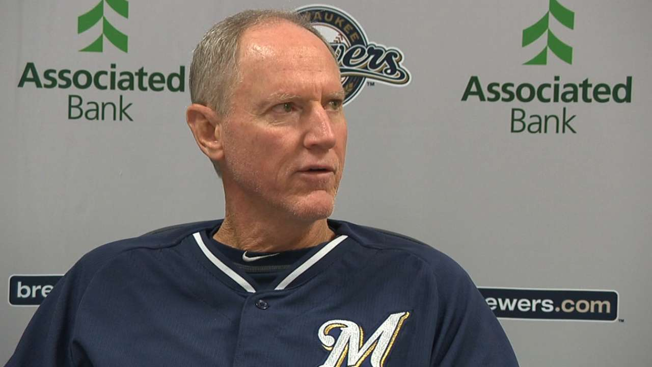 Roenicke on Crew staying healthy