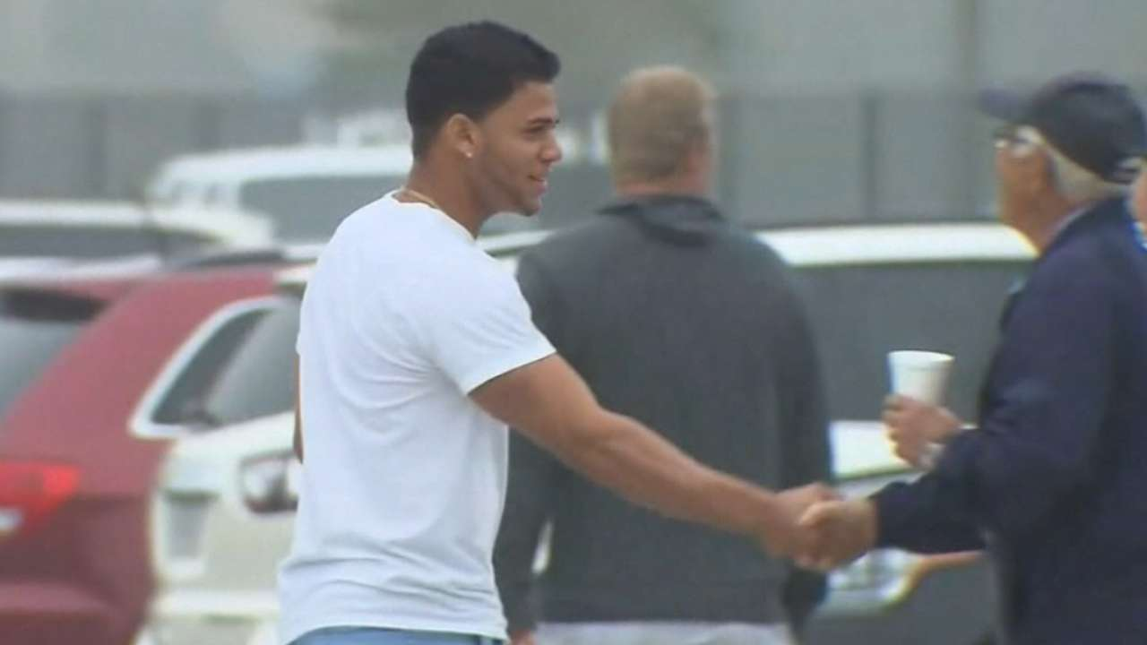 Moncada arrives at camp for physical