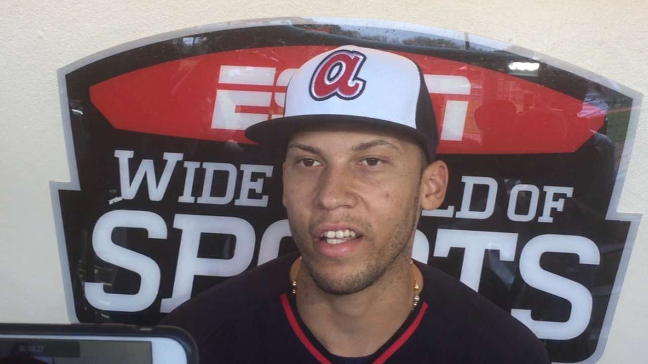 Andrelton playing it safe with sore oblique