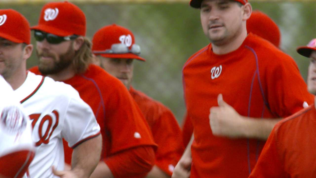 Williams sets tone of Nats camp with first team meeting