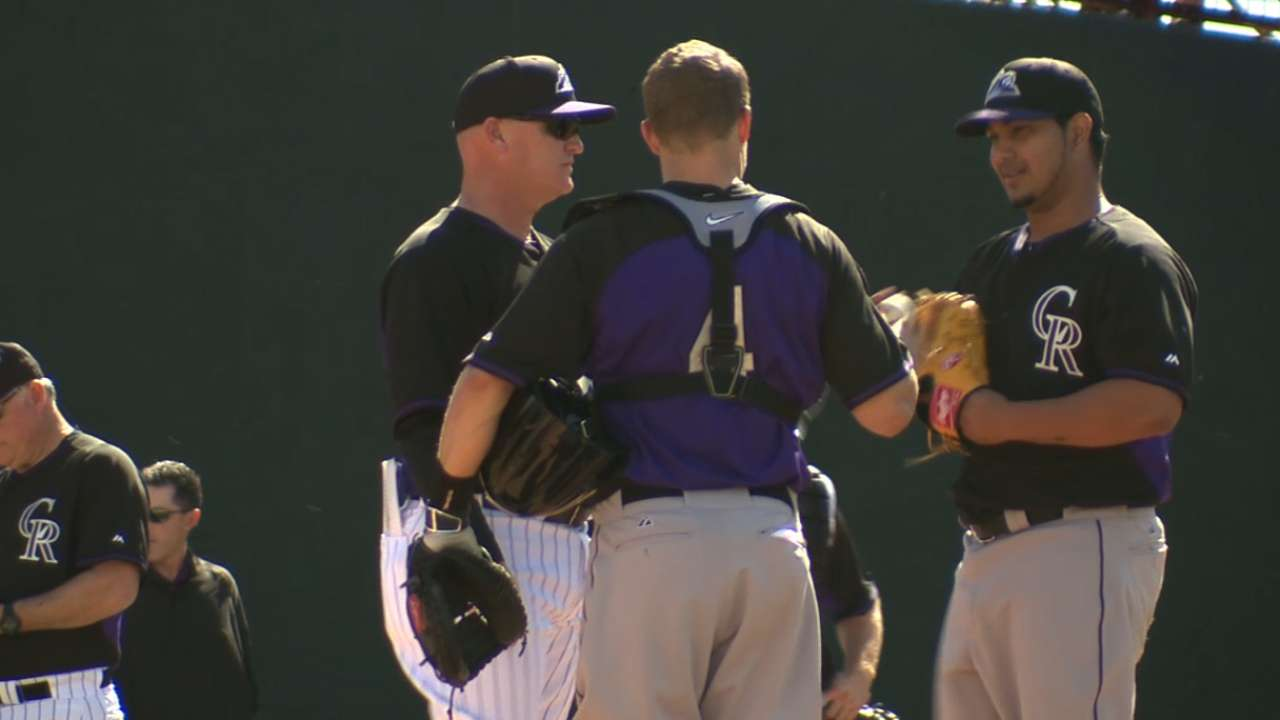 Rockies' Foster takes personal approach