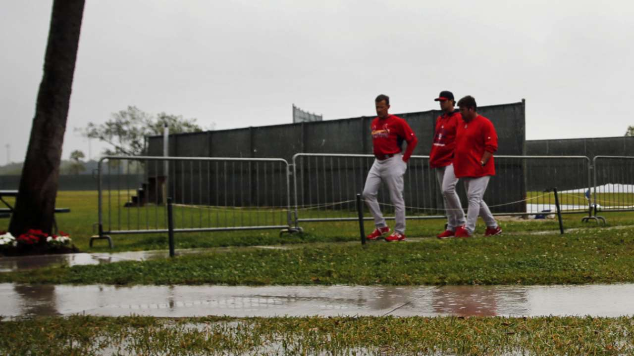 Cardinals mix hitters with pitchers to talk 'shop'