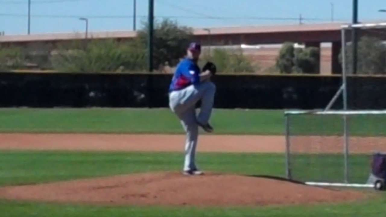 Lester feels good vibe on mound, in camp