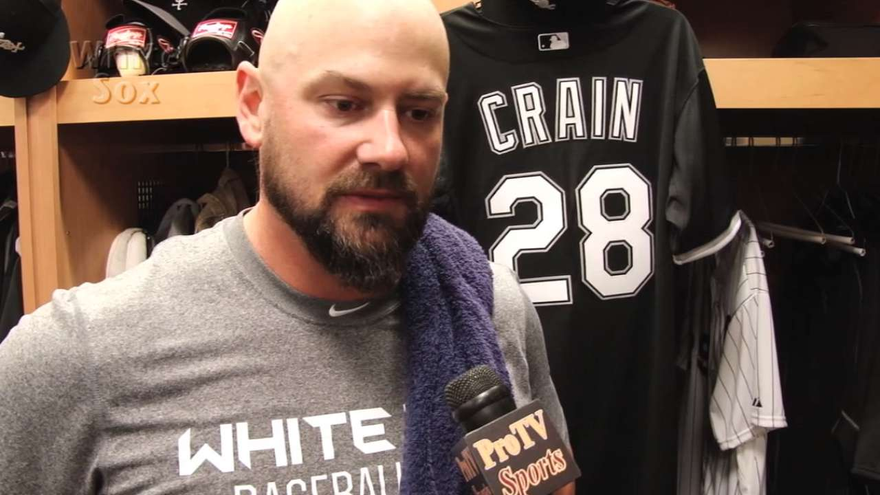 Crain advancing at White Sox camp, ready to face hitters