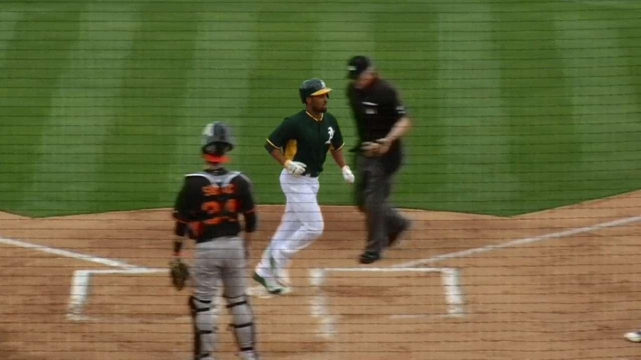 New shortstop Semien homers twice in Cactus League debut