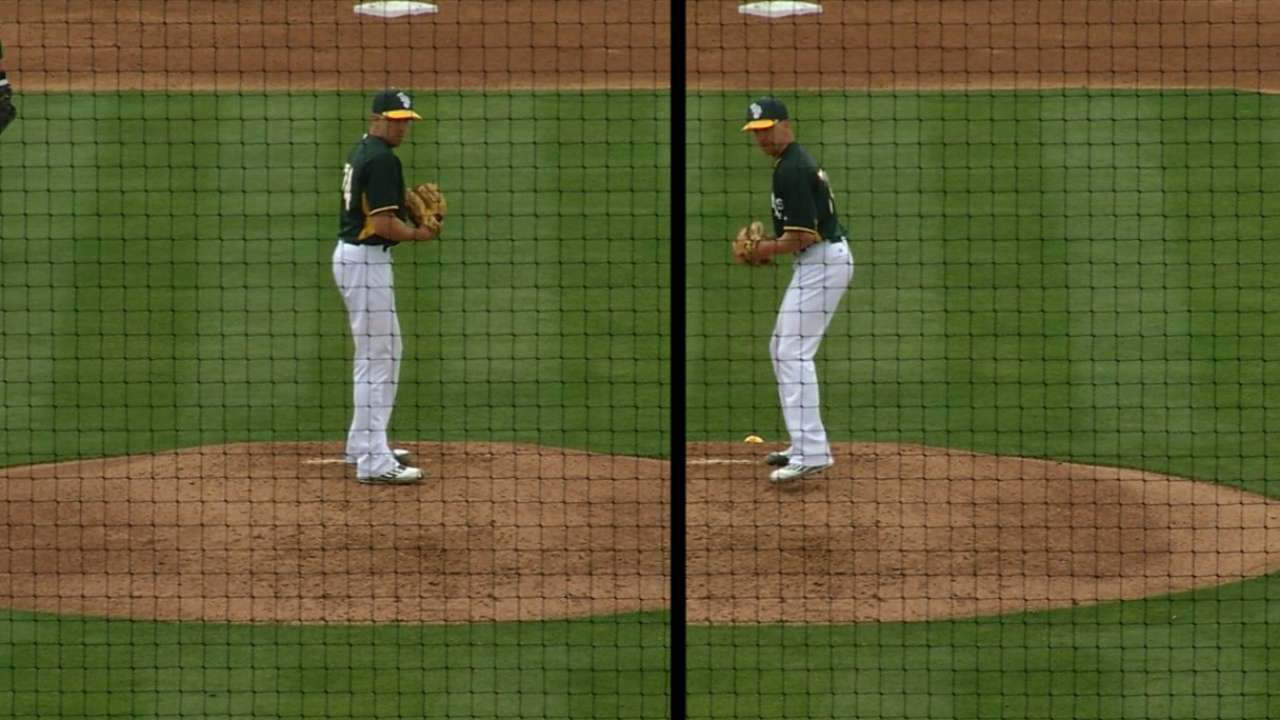 Venditte begins spring by recording an out with each arm