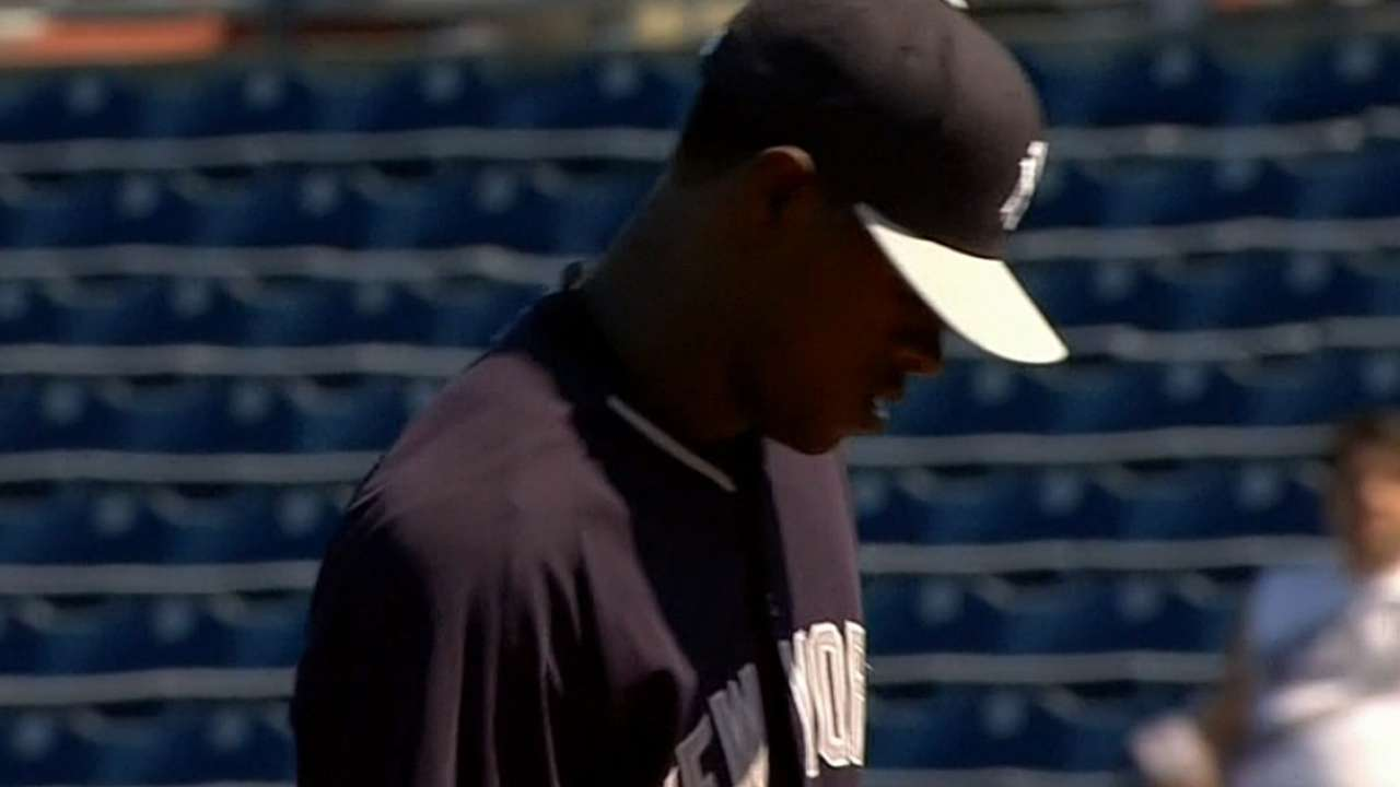 Severino strikes out two