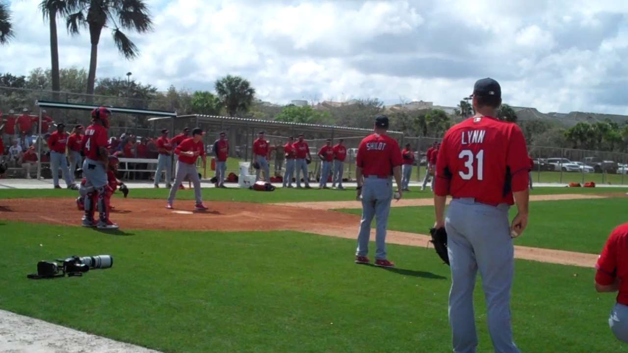 Handful of Cards participate in light off-day workout