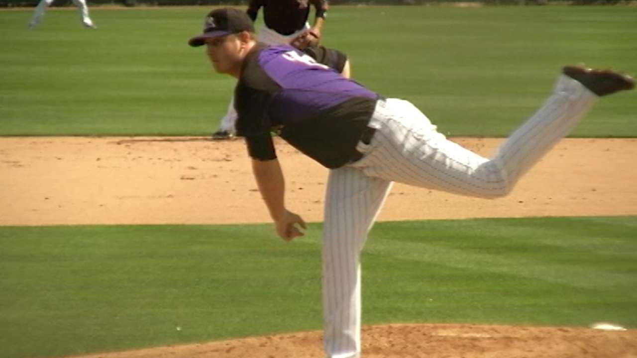 Ynoa comes out swinging in Rox intrasquad action