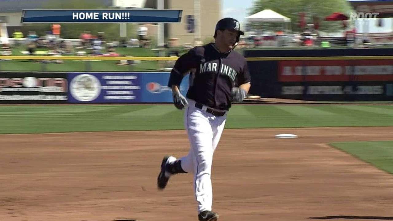 Peterson's solo home run