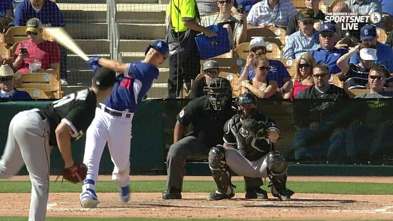 Pederson off to good start with pair of hits