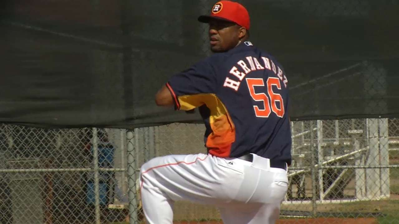 Hernandez makes Astros' decision on rotation a tough one