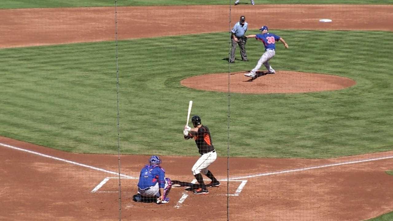 Umpire injury leads to odd strike-calling scenario