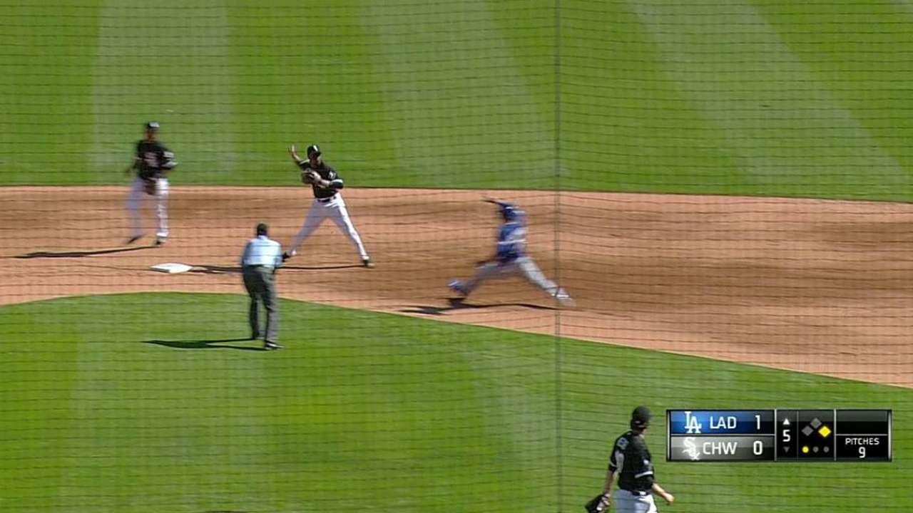 Johnson's inning-ending DP
