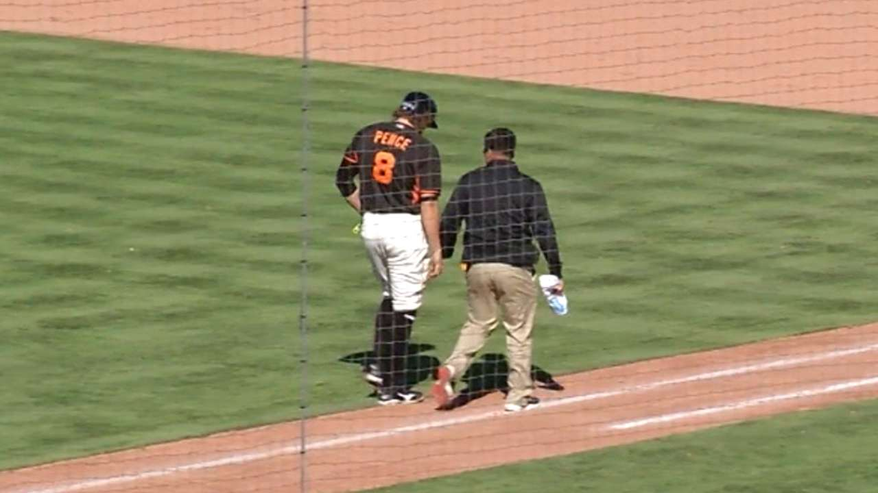 Bochy on Pence's injury