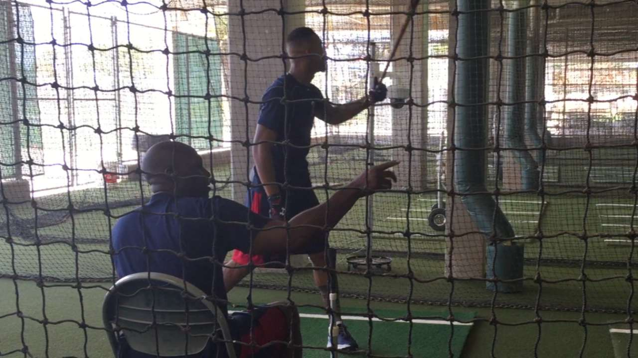 Hunter offers mentorship to Twins youngsters