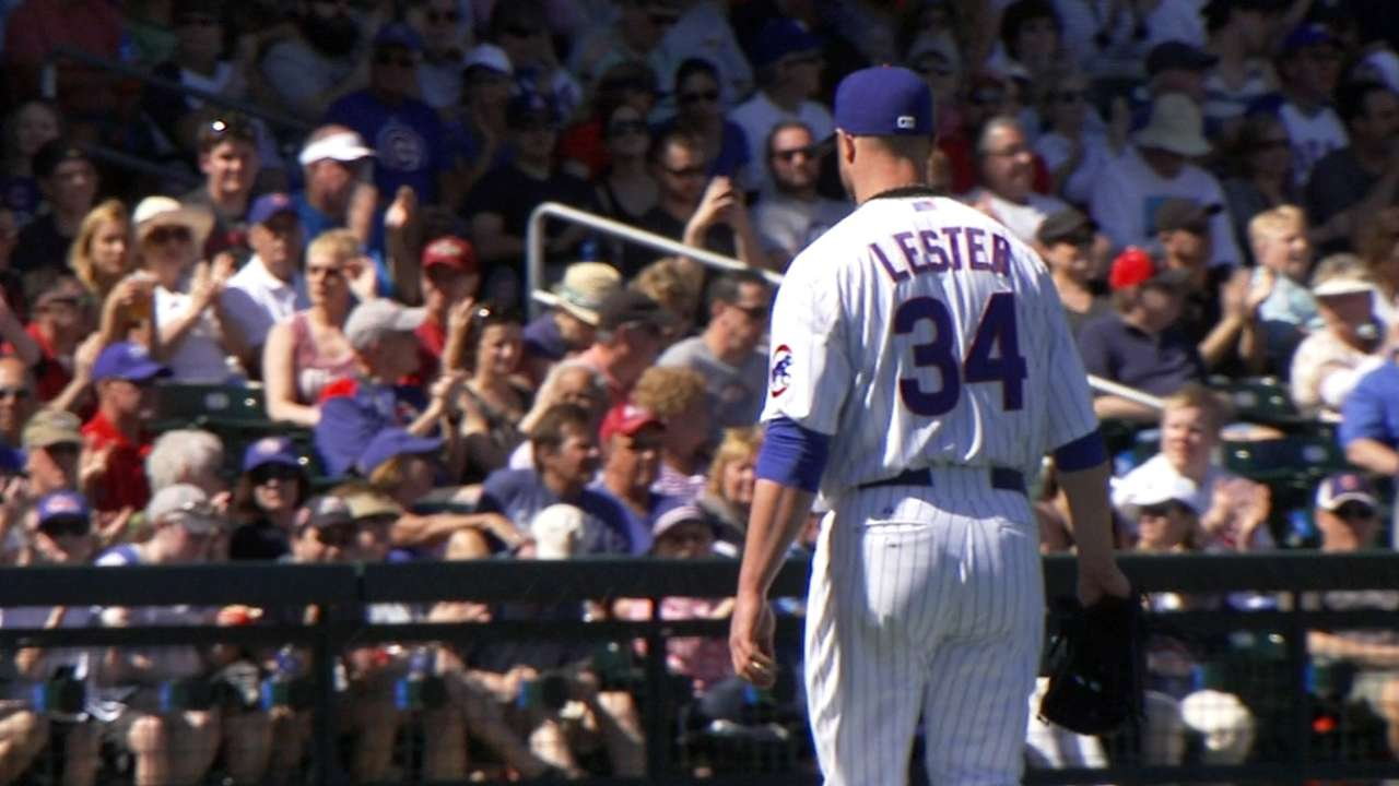 Key arms impress for Cubs in front of record crowd