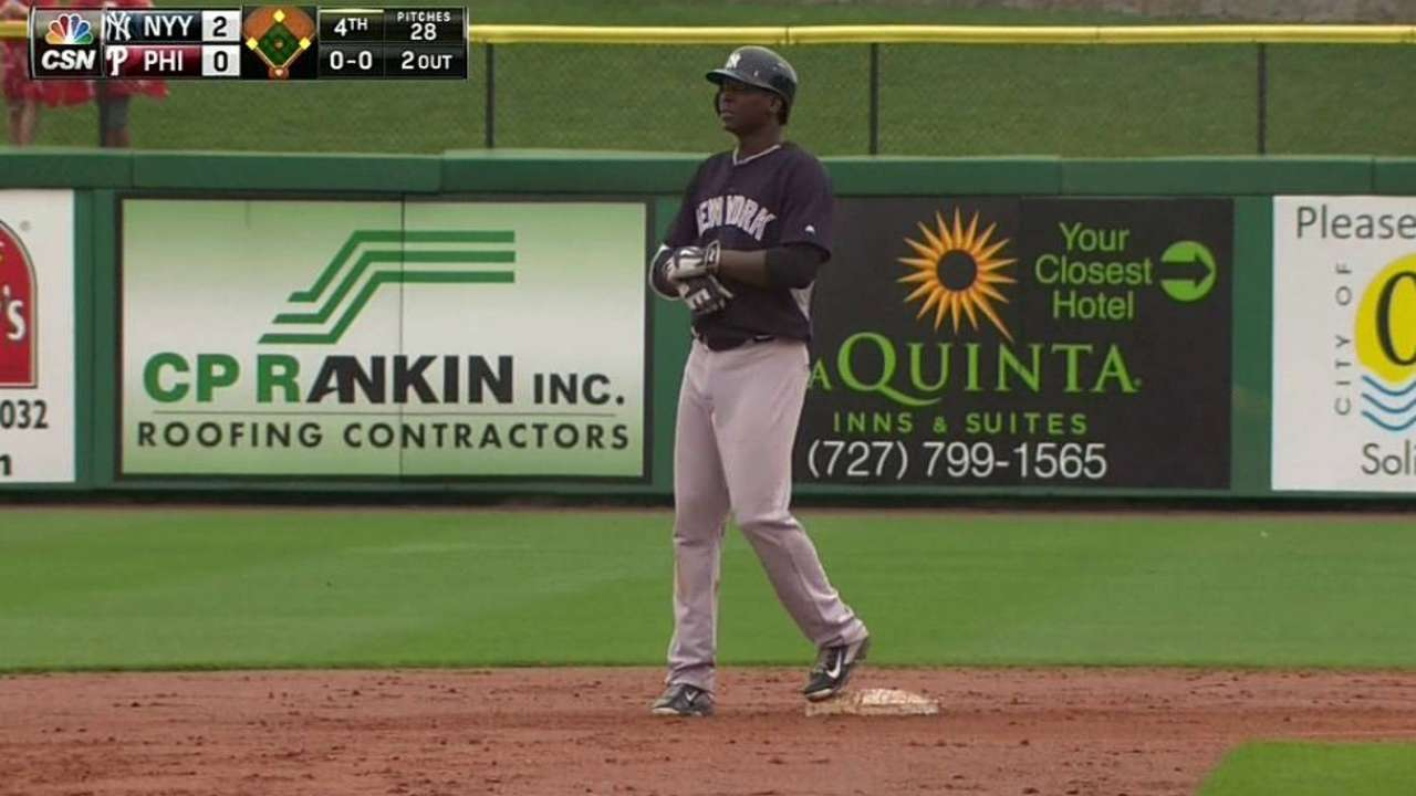 Gregorius plates run in Yankees' win vs. Phillies